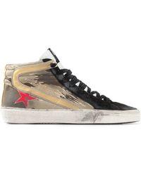 Golden Goose Deluxe Brand Slide High-Top Sneakers - Lyst