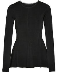 Karl Lagerfeld Nieve Stretchknit Peplum Sweater - Lyst