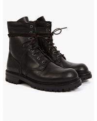 Rick Owens Men'S Black Leather Army Boots - Lyst