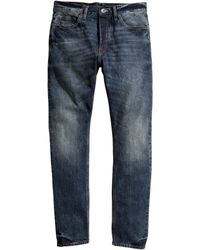 H&M Tapered Low Jeans - Lyst