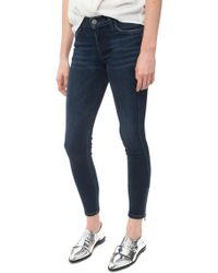 Goldsign Marcie Skinny Ankle Jean blue - Lyst