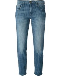 Current/Elliott Slim Fit Cropped Jeans - Lyst