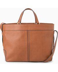 Mango Plebbed Shopper Bag - Lyst