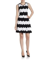 Torn By Ronny Kobo Cori Zigzagknit Dress - Lyst