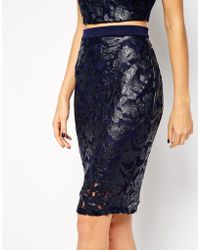 Lipsy Michelle Keegan Loves Skirt With Applique - Lyst