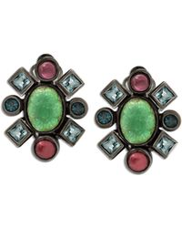 Stephen Dweck - Mixed-stone Carved Flower Clip-on Earrings - Lyst