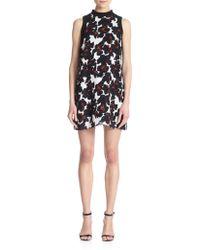 A.L.C. Drie Floral-Print Silk Dress - Lyst
