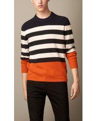 Burberry Colour Block Stripe Sweater - Lyst