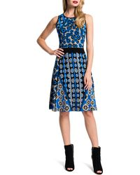 Cynthia Steffe Inga Combo-Print Fit & Flare Dress - Lyst