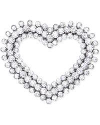 Jones New York - Silver-tone Open Heart Pin - Lyst