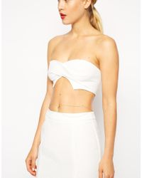 Asos Exclusive Twisted Textured Front Bralet - Lyst