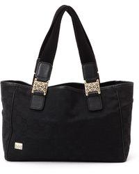 Gucci Black Gg Canvas Tote Bag - Lyst
