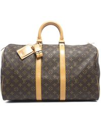 Louis Vuitton Pre-Owned Monogram Canvas Keepall 45 Bag - Lyst