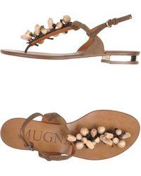 Mugnai - Thong Sandal - Lyst