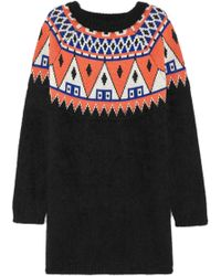 Aimo Richly - + Angora And Wool-Blend Jumper Dress - Lyst