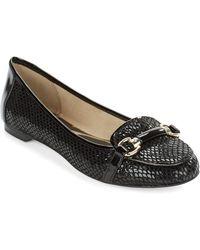Anne Klein Cabe Snakeskin Loafers - Lyst