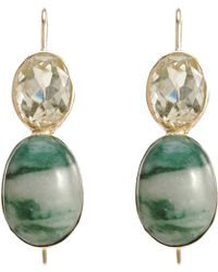 Sandra Dini - Lemon Citrine Jade Earrings - Lyst