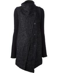 Masnada - Textured Cardi Coat - Lyst