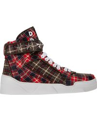 Givenchy Tartan Plaidprint Tyson Sneakers - Lyst
