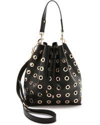 Deux Lux London Grommet Bucket Bag - Black - Lyst