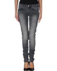Dondup Gray Denim Trousers - Lyst