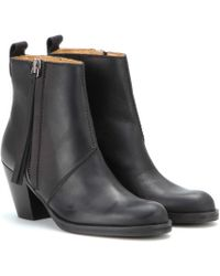 Acne Studios Pistol Short Leather Ankle Boots - Lyst