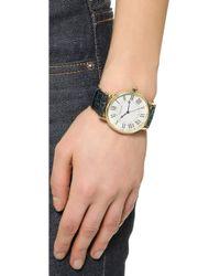 Shashi - Classique Watch - Gold/Navy - Lyst