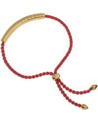 Monica Vinader - Red And Gold Vermeil Esencia Friendship Bracelet - Lyst