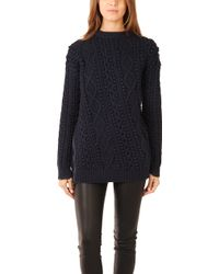 3.1 Phillip Lim Pullover with Exposed Zipper - Lyst