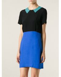 Peter Jensen Colour Block Dress - Lyst