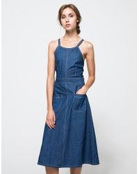 Linda Farrow Stella Denim Dress blue - Lyst