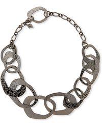 Sequin - Interlocking Hammered Circles Necklace - Lyst
