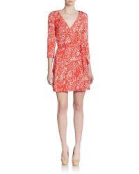Diane von Furstenberg New Julian Printed Two Jersey Wrap Dress - Lyst