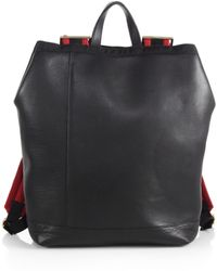 Marni Leather & Mesh Backpack - Lyst