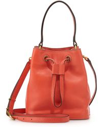 Tory Burch Mini Leather Bucket Bag - Lyst