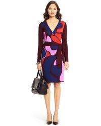Diane Von Furstenberg Linda Wool Wrap Dress - Lyst