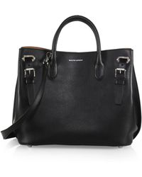 Ralph Lauren Collection Small Grommet Leather Tote - Lyst