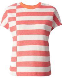 Tory Burch Striped Birdseye T-Shirt - Lyst
