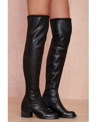 Nasty Gal Jeffrey Campbell Damien Knee High Leather Boot - Lyst