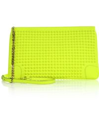 Christian Louboutin Studded Shoulder Clutch - Lyst