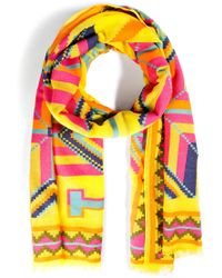 Ralph Lauren Collection Cotton Blend Marcela Beacon Scarf - Lyst