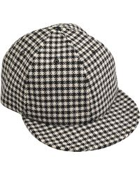 Larose - Houndstooth Baseball Cap - Lyst