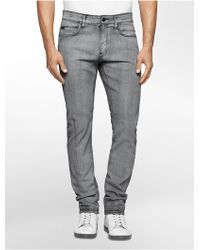 Calvin Klein | Jeans Slim Leg Charred Black Wash Jeans | Lyst