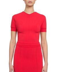 Nina Ricci Cut-Out Sweater Top - Lyst