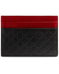 Gucci Microssima Leather Card Case - Lyst