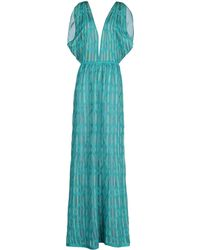 M Missoni Long Dress - Lyst