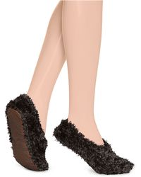 Hue - Feathery Slippers - Lyst