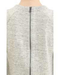 J Brand - Zip Back Sweatshirt - Lyst