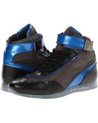 Versace Galvanic Gunmetal Hi-top Sneaker - Lyst