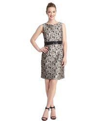 Tahari Sequin Detail Sheath Dress - Lyst